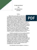In the Matter Di the Psychophysics-corsu-gustav Theodor Fechner