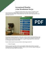 Standard Internasional Rambu Keselamatan Dan Kesehatan Kerja