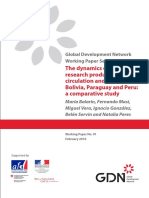 The Dynamics of Social Research Production, Circulation and Use in Bolivia, Paraguay and Peru. a Comparative Study