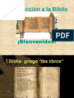 Introduccion a La Biblia Antiguo Testamento