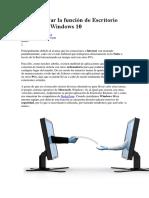 Cómo Activar La Función de Escritorio Remoto en Windows 10