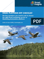 Selecting an Email Marketing Platform Checklist Template Smart Insights
