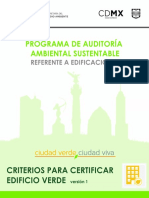 Programa de auditoria ambiental sustentable CDMX