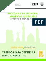 Programa de auditoria ambiental sustentable CDMX