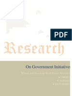 Research on Government intiatives Which Will Boost up Real Estate Market