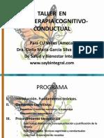 TALLER- Cognitivo Conductual