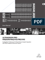 BEHRINGER FBQ3102 USER MANUAL