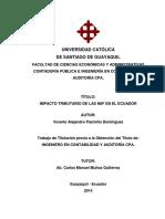 Impacto Tributario de Las Niif en El Ecuador