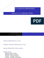 Equa Diff 01Informatique, Les equations differentielles