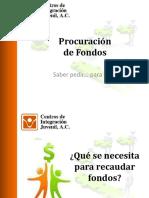 Procuracion de Fondos Saber Pedir Para Obtener