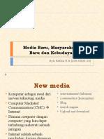 Media Baru, Masyarakat Sosial Baru Dan Kebudayaan