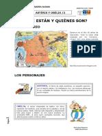 ASTÉRIX Y OBÉLIX ESCENARIO Y PERSONAJES