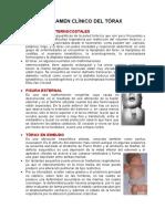 torax examen clinico