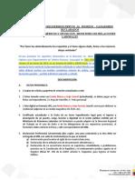 Documentos Requeridos Previo Al Ingreso a La Institución