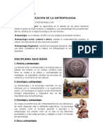 Antropologia y Disciplinas Asociadas