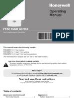 Honeywell - Pro1000 User Manual