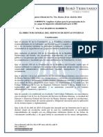 RO# 741 - S - Amplíase Plazo Para Presentación de Declaración y Pago Impuestos (26 Abril 2016)