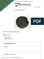 Csyl-14 Ybco Levitation Disk - Can Superconductors E-shop