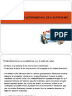 Normas Internacional de Auditoria 450