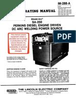 Lincoln SA250 D3 152 - 9326 Manual