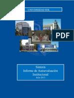 Síntesis Informe de Autoevaluación Institucional 2013