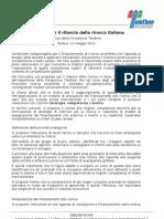 Proposte Per Rilancio Ricerca Italiana