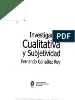 Investigacion Cualitativa y Subjetividad Gonzalez Rey