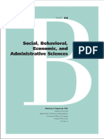 8 B. Social, Behavioral, Economic, And Administrative Sciences (1)