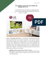 NP - LG Electronics explica cómo usar los modos de imagen de la TV