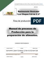 Manual de Procedimientos Restaurante