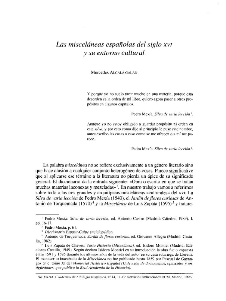 Alcalá Galánmisceláneas Españolas Sxvipdf