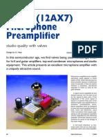Electronique - Audio - Microphone Valve Preamp