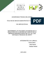 Agroindustrias H&F T.v Reducción de La Cartera de Clientes