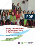 Women, Peace and Security in the Autonomous Region in Muslim Mindanao