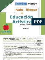 Plan 6to Grado - Bloque 1 Educación Artística (2015-2016)