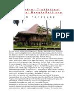 Arsitektur Tradisional Provinsi BangkaBelitung