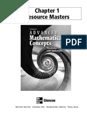 Chap1 Glencoe Precalc Resource Master   Line (Geometry