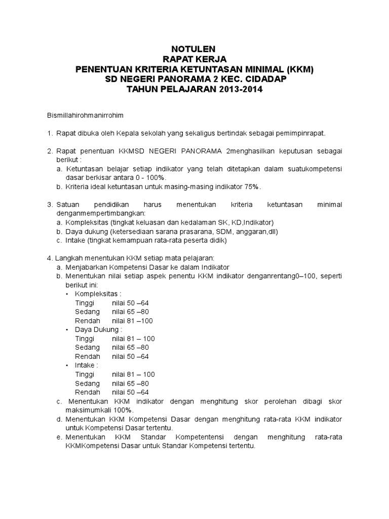 259907853 Penentuan Kkm Notulen Rapat
