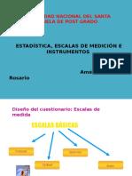 Estadística, Escalas de Medición e Instrumentso.