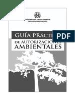Reglamento Del Sistema de Autorizaciones Ambientales Guia Prc3a1ctica de Autorizaciones