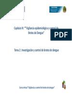 Cap IV Tema II Investigacion y Control de Brotes de Dengue