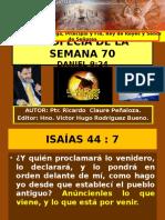La Semana 70 de Daniel 9 - 27