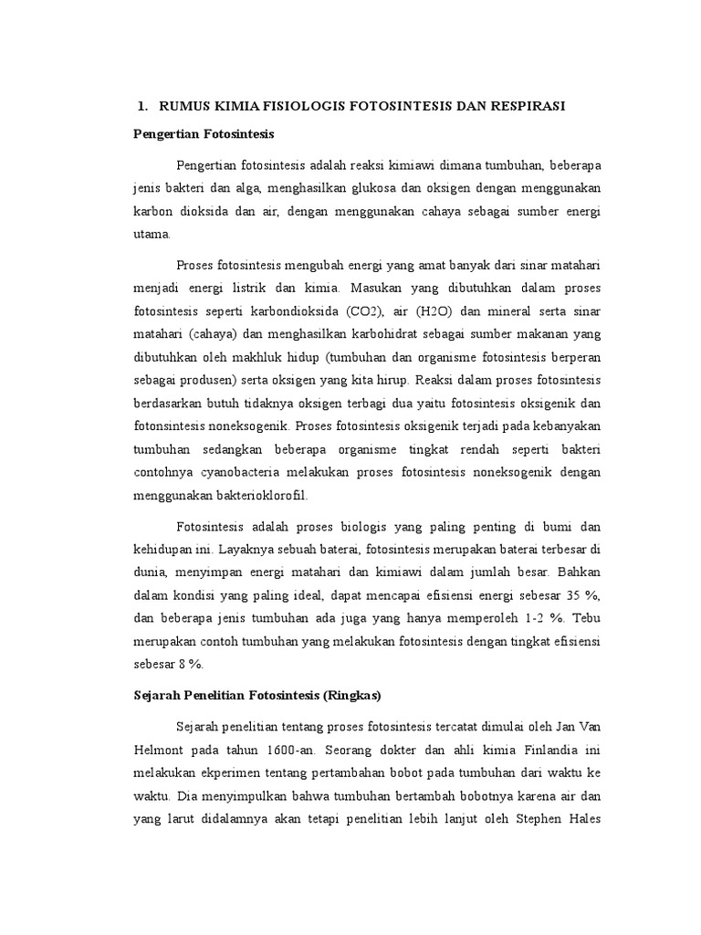 Laporan Fotosintesis Dan Respirasi Tumbuhan This Qiye Atv3300 Wiring Diagram Electrical Routing Illustration