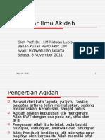 Pengantar Ilmu Akidah