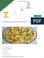 Hyderabadi Dum Pukht Murgh Biryani Recipe