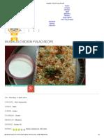 Mughlai Chicken Pulao Recipe