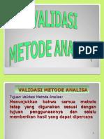 10. Validasi Metoda Analisa