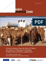 Livestock Exports from the Horn of Africa