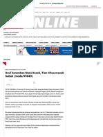 Usul Haramkan Nurul Izzah, Tian Chua Masuk Sabah _ Politik _ Berita Harian