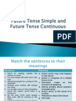 Future Tense Simple and Future Tense Continuous